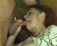Granny Mathilda Gets Young Pole In Her Gray Bush