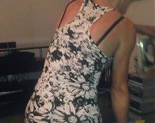 Slut Wife Upskirt Short Dress