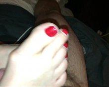 wife's footjob