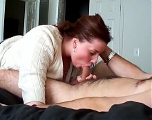 Thiccc Mom Sucking Sons Friends Cock