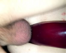 wife double vaginal with huge dildo