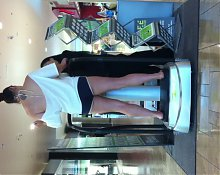 Wife teasing at the mall