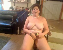 Granny Singing and Masturbating
