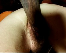 Hairy amateur peluda wife doggy closeup clapping creamy