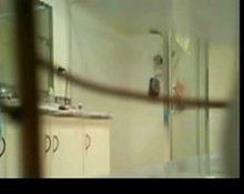 Unaware wife caught on Hiddencam in bathroom