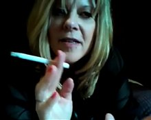 Hot Curvy Mature Cougar Smoking and Riding