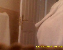 Curvy big titted wife dries after shower