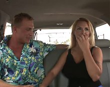 Blonde Milf in a car