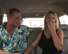 Blonde Milf in a car