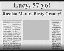 Russian Mature Busty Granny! Amateur!