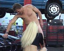 blonde milf fucked in garage