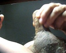 68 yrold Grandpa #20 mature penis close closeup wank uncut