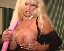 Big Breasted Blonde MILF Tia Gunn Masturbates