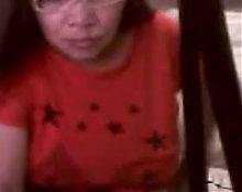 Asian granny Elizabeth 57 flashing 1