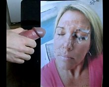 Facial for CumArtist1's wife