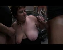 Mature BBW pays mechanics