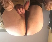 Panty wank in wifes bra and thong