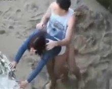flagrante na praia