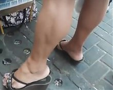Nice legs on sandals