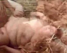 HOT FUCK #147 Worthless Fat Mature Pig, in the Pigsty
