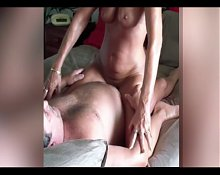 Granny with big hang boobs real fill orgasm