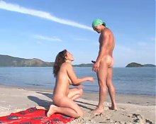 Nice MILF Fuck On The Beach