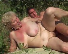 Big Tit Granny Fucking Outdoors