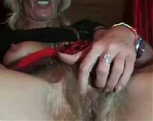 Hairy german granny play