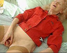 GRANNY Josee  HOUSEWIFE  sextoys in her pussy