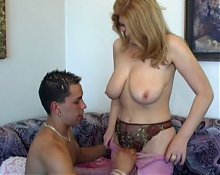 Cute Milf Takes on a Younger Guy