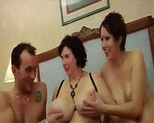 FRENCH BBW 65YO GRANNY OLGA HUGE BOOBS THREESOME PARTY