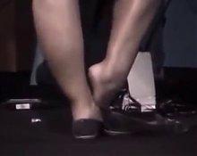 Crossed sexy legs