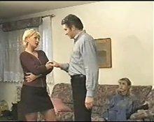 Sexy mature blonde being seduced