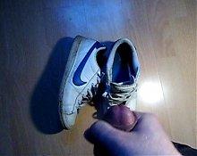 Friend cum in my Wife Nike Sneakers