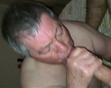 Grandpa Sucks My Big Young Cock Until Cumshot